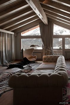 Paolo Giachi recently has completed this gorgeous interior for St.Moritz residence. This stunning Alpine home melts in beautiful landscape surroundings, architect used old wood and natural materials to create this amazing atmosphere. The interior is a pure coziness.