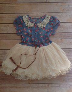 Western girls tutu dress, ivory dress, toddler dress, Easter dress, birthday dress, rustic flower girl dress