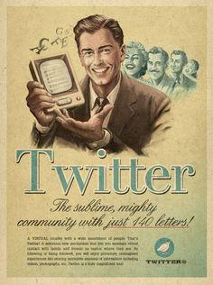 """Vintage-style ads for modern social networks."""