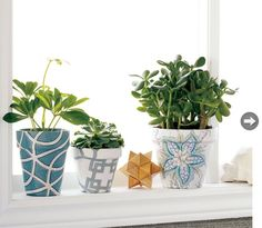 Stylish fabric flowerpot covers. An easy and effective DIY project.