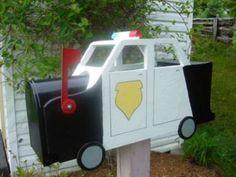 Police Car Mailbox