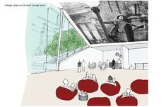 Performance Art Center for Columbia College Chicago on Behance Architecture Collage, Architecture Drawings, Architecture Plan, Columbia College Chicago, Perspective Sketch, Art Projects, Diagram, Behance, Sketches