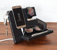 Christmas gifts for Men, Christmas nightStand, Desk organizer, Nightstand Dock Wood Organizer Docking station Glasses holder Mod 2019 Thoughtful Gifts For Him, Diy Gifts For Him, Presents For Him, Diy Gifts For Boyfriend, Useful Gifts For Men, Expensive Gifts For Men, Gift For Men, Homemade Gifts For Men, Christmas Gifts For Husband