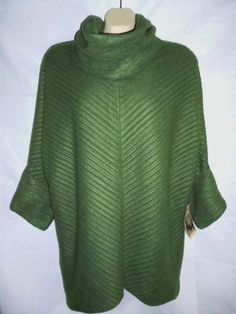 NEW HABITAT Clothes 2 Live In Green Cowl Pullover Tunic Top Poncho Cape Fleece S #HandmadeHabitat #Tunic #Casual