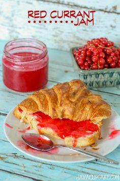15-minute Red Currant Jam #RedCurrantWeek   JavaCupcake.com