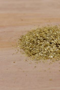 Gold German Glass Glitter 8-1.2mm, 1lb
