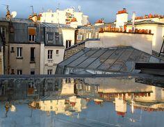 paris rooftop reflection