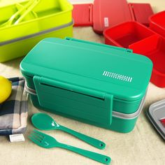 Hot Creative Green Box Japanese Bento Lunch Box For Kids Lunchbox Food Container Thermos For Food Bento Box Dinnerware Set