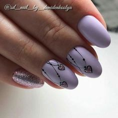Make an original manicure for Valentine's Day - My Nails Purple Nail Designs, Acrylic Nail Designs, Nail Art Designs, Nails Design, Acrylic Nails, Trendy Nails, Cute Nails, Hair And Nails, My Nails