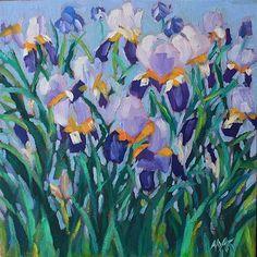 """Iris Sketch"" - Original Fine Art for Sale - © Mary Anne Cary"
