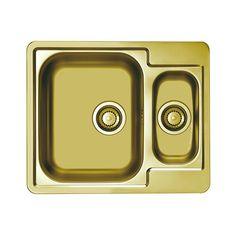CHIUVETA DE BUCATARIE ALVEUS MONARCH COLLECTION LINE 50 GOLD ,LA NIVELUL BLATULUI ,INOX - Iak Sink, Gold, Home Decor, Sink Tops, Vessel Sink, Sinks, Home Interior Design, Decoration Home, Wash Stand