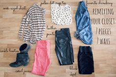 remixing your closet 7 pieces 7 ways