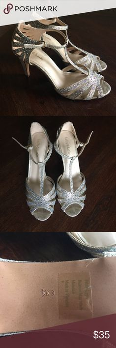 Gold Bedazzled Kelly & Katie Heels Gold Bedazzled Kelly & Katie Women's Heels Size 9 Used Once Perfect for Special Occasions - Prom, Wedding, Special Events! Kelly & Katie Shoes Heels