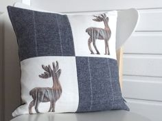 our winter cushion is a stormy blue with ice white strip, http://www.fiadh.co.uk/home/Callanish_Cushions.html