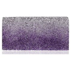 Nina 'Lamarie' Ombre Glitter Clutch ($48) ❤ liked on Polyvore featuring bags, handbags, clutches, purple, purple purse, glitter handbags, purple handbags, imitation purses and ombre handbag