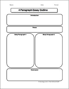 informative essay graphic organizer