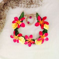 Moana flower crown by BonniesHairwear on Etsy Moana Party, Moana Theme, Moana Birthday Party, Hawaiian Birthday, Luau Birthday, Hawaiian Luau, 4th Birthday Parties, Aloha Party, Luau Party