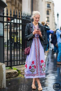 Iselin Steiro Street Style Street Fashion Streetsnaps by STYLEDUMONDE Street Style Fashion Photography