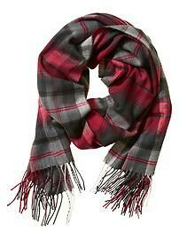 Plaid textured scarf