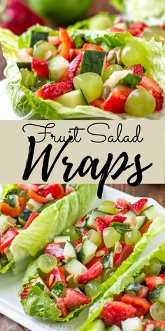 Quick and easy fruit salad wraps is ideal to take to summer picnics Summer Salads With Fruit, Salad Wraps, Picnic Foods, Summer Picnic, Healthy Summer, Fruits And Veggies, Fruit Salad, Entrees, Dinner Recipes