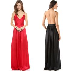 Find More Dresses Information about Women's Sexy Club Spaghetti Strap Backless Long Dress Deed V neck Black/Red Sleeveless Summer 2015 Hot Fashion Woman Dress,High Quality polyester lace dress,China dress colors Suppliers, Cheap polyester costume from Billion Praise on Aliexpress.com