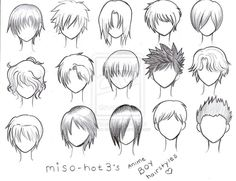 Reference for drawing short hair.