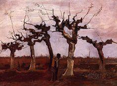 bofransson:  Vincent van Gogh - Landscape with Pollard Birches
