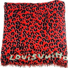 LOUIS VUITTON Leopard Red Stole Limited First Edition.