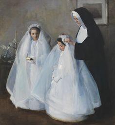 The First Communion (La Première communion) // 1895 // Elizabeth Nourse // ©…