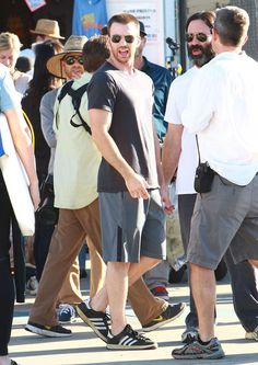 Chris Evans Photos Photos - Actor Chris Evans, Topher Grace, and Michelle Monaghan film scenes for 'A Many Splintered Thing' in Venice, California on November 5th, 2012. - 'A Many Splintered Thing' Films In Venice