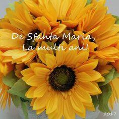 De Sfanta Maria La multi ani!|aranjament BeatrixArt #sfantamaria #lamultiani #aranjament #aranjamente #flori #artificiale #floriartificiale #floareasoarelui #galben #decoratiuni #infrumusetare #casa #birou #flowerstagram #beatrixart www.beatrixart.ro Birthday Images, Happy Birthday, Flowers, 15 August, Plants, Instagram, 8 Martie, Wallpapers, Pictures