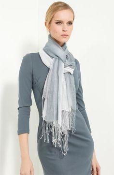 f91a8b2a7235 Armani Collezioni Gauzy Scarf Cooling Scarf, Sweater Sale, Scarf Dress, How  To Wear