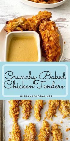 Baked Chicken Nuggets, Crispy Baked Chicken, Chicken Tender Recipes, Meat Recipes, Crockpot Recipes, Dishes Recipes, Turkey Recipes, Potato Chip Chicken, Potato Chips
