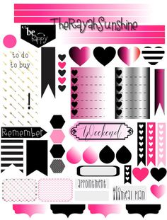 Punky-Pink Planner Stickers for Happy Planner, Filofax, Erin Condren and Plum Paper Planner
