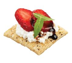 """Ricotta & Fresh Strawberry Topper:  A snack that says """"I know how to make fancy snacks."""""""