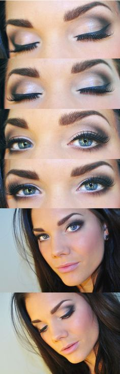 Use a creamy white and your favorite black eyeshadow to create this lovely, sexy look!