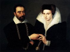 """""""Portrait of a Couple"""" by an unknown French artist (1610)"""