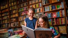 Benji Mazzone, 9 (right) with  Sienna Lawson-Coffa. Benji started his own  book group last year.