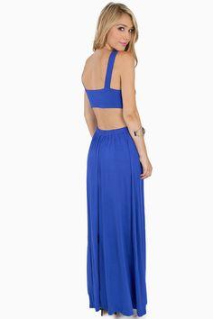 Vestido maxi cuello pico sin espalda-azul EUR€15.93