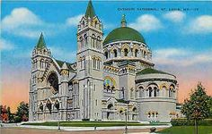 St Louis Missouri MO 1940s Catholic Cathedral Collectible Vintage Postcard