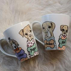 Puppies, Mugs, Tableware, Animals, Craft, Dishes, Atelier, Create, Porcelain Ceramics