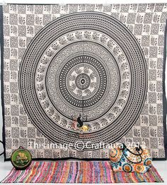 Elephant Tapestries Hippie Tapestries Tapestry by CraftAuraHome, $14.99