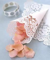 Paper doily decorations