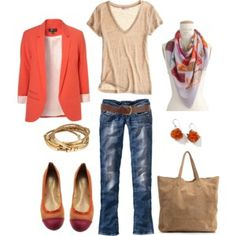 Coral - love this look!
