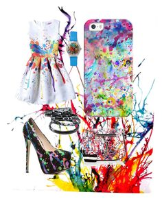 """PAINT MY LIFE COLOURFULL"" by projectalice5 on Polyvore featuring Casetify and Marc Jacobs"