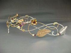 Lorien circlet crown tiara headpiece sterling by ElnaraNiall