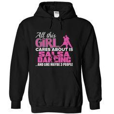 Salsa Dancing T Shirts, Hoodies. Check price ==► https://www.sunfrog.com/Sports/Salsa-Dancing-Black-Hoodie.html?41382 $39.95