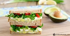 Avocados and Greek yogurt replace mayonnaise traditionally used in egg salad for good fats and a little extra protein. Make the avocado egg salad within two hours of eating to avoid browning.