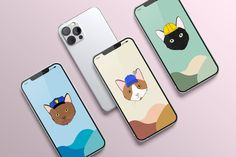 Read the full title iPhone Wallpaper, Digital Download, Cat Wallpaper, iPhone Wallpaper, Aesthetic iPhone Wallpaper, Cute Digital Background, Minimalist Art