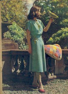 Años 50' - Vestido primavera-verano - Revista Burda